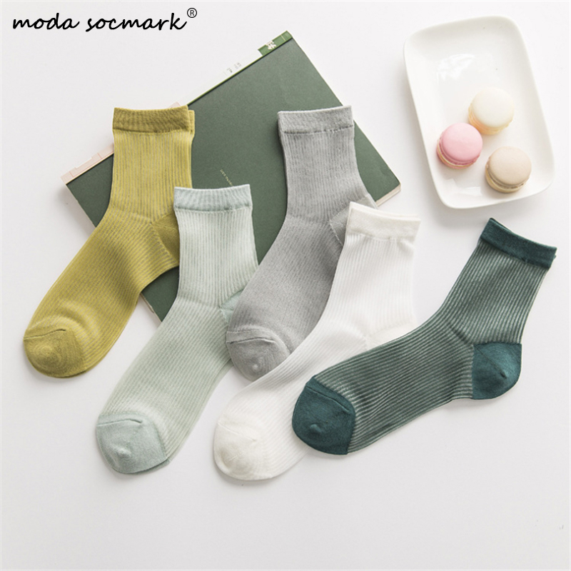 2020 Hot Sale Hipster Harajuku Thin Ankle Socks Women Fashion Glass Transparent Short Socks Female Summer Art Fishnet Scoks Sox