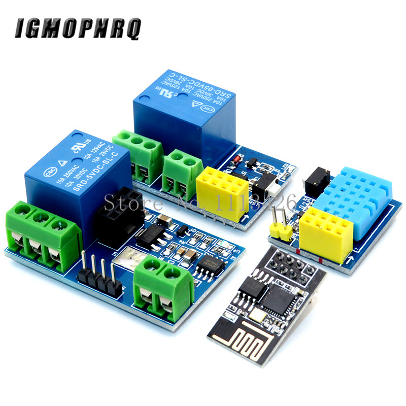 ESP8266 ESP-01 ESP-01S 5V WIFI Relay Module DHT11 Temperature Humidity Sensor Module Wireless WIFI Module NodeMCU Smart Home IOT