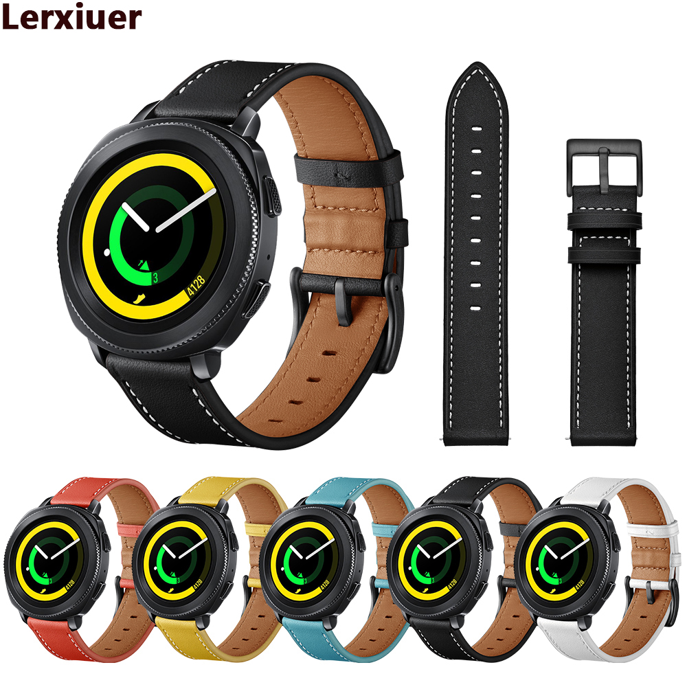 Galaxy watch active Genuine Leather bands for samsung galaxy 42mm/gear s2 s4 classic 20mm strap smart Bracelet