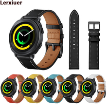 Galaxy watch active Genuine Leather bands for samsung galaxy watch 42mm/gear s2 s4 classic 20mm watch strap smart watch Bracelet