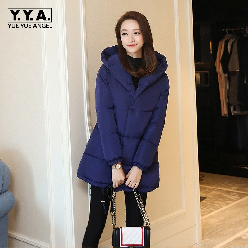 Oversize Hooded Female Jacket Warm Thick Winter Parka Long Style Comfort Down Jacket Overcoats For Women Outerwear Coat Feminino fashionable thick hooded pleated down coat for women