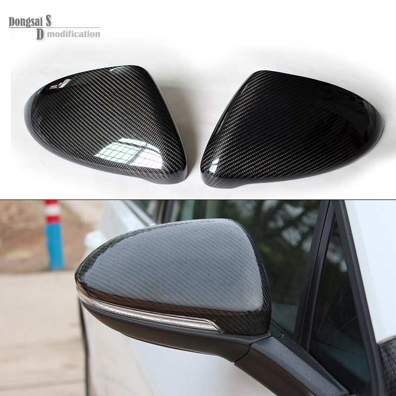 2014 2015 2016 vw golf 7 replacement carbon fiber door side wing mirror covers for Volkswagen Golf MK7 gti golf7 r car tuning for volkswagen vw golf7 mk7 carbon fiber rear side view caps mirror cover car replacement