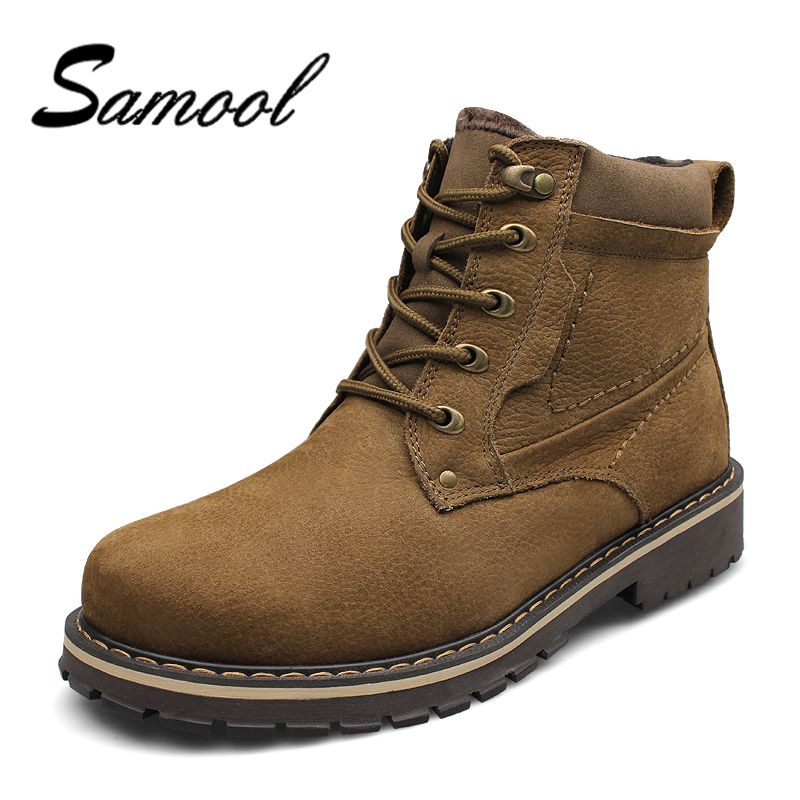 New Roman Men Winter Boots Male Snow Ankle Boots Waterproof Warm Fur Casual Boot Shoes Chaussure Homme Plus Size 37-50 CX5 цены онлайн