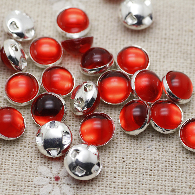 8mm 50pcs lot silver Plating white ab red Rhinestone Beads fea993f59263