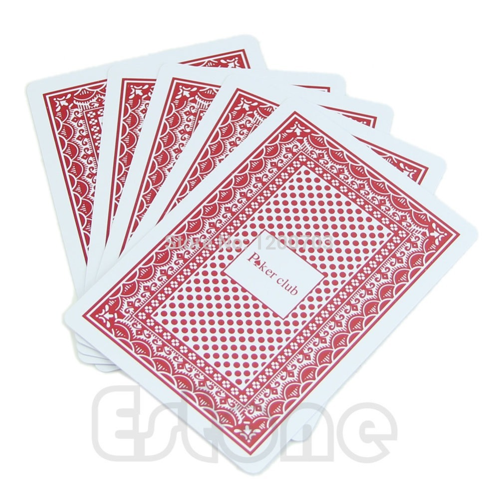 B39 Newest 2015 Waterproof Poker New Red 100% PLASTIC Washable Texas Poker Size Playing Cards