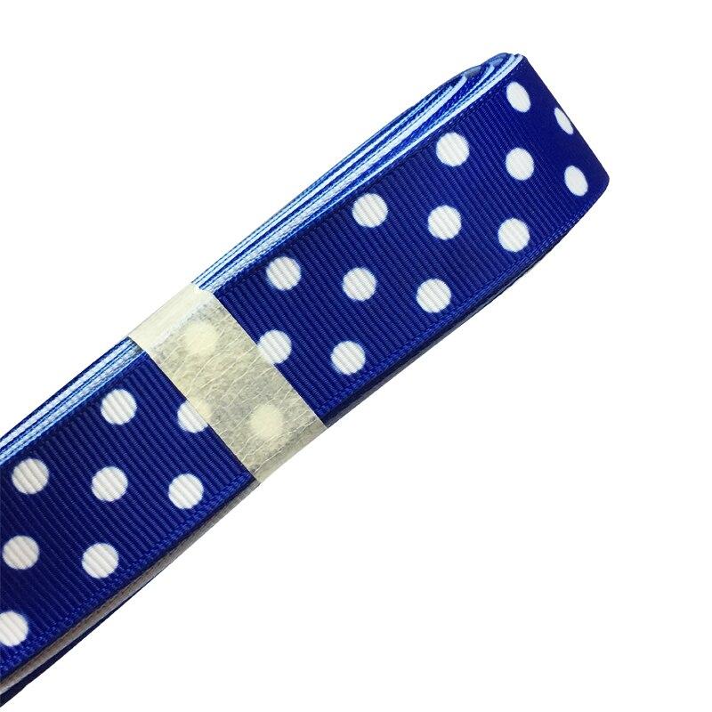 7/8 inch 22 мм синий в горошек печатных Grosgrain ленточки для волос бант ручной работы ошейник подарок посылка индивидуальные Craft 10 ярдов/партия