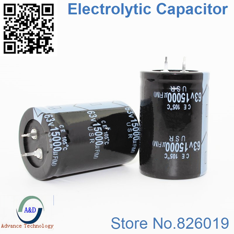1pcs/lot 63V 15000UF Radial DIP Aluminum Electrolytic Capacitors Size 35*50 15000UF 63V Tolerance 20%
