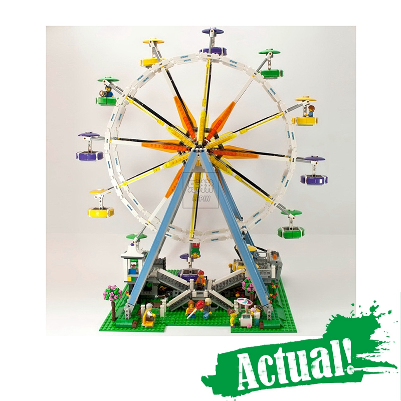 In-Stock 2518pcs 15012 City Street Ferris Wheel Model Building Kits Blocks lepin DIY Toy Compatible with 10247 gifts lepin 15012 2478pcs city series expert ferris wheel model building kits blocks bricks lepins toy gift clone 10247