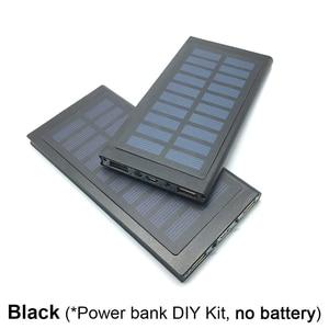 Image 5 - 1 sztuk 7566121 Powerbank na energię słoneczną przypadku Powerbank pokrywa puste DIY opakowanie na power bank Dual USB zestaw ładowarka latarka