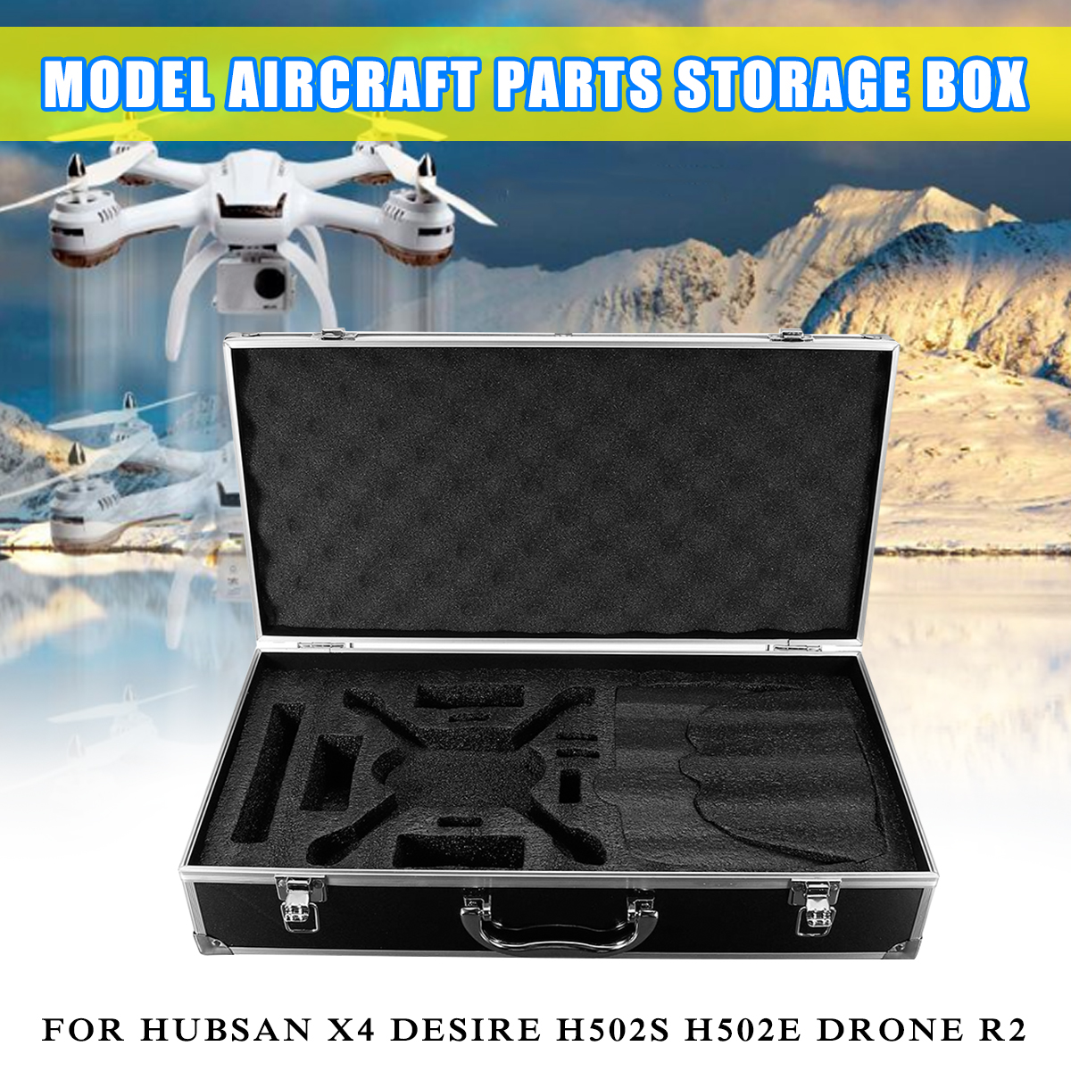 Hardshell Suitcase Carrying Case Box Waterproof Drone Bag For Hubsan X4 Desire H502S H502E Drone R2 PartHardshell Suitcase Carrying Case Box Waterproof Drone Bag For Hubsan X4 Desire H502S H502E Drone R2 Part