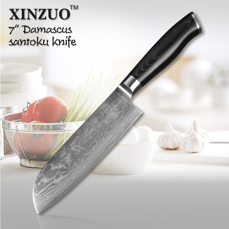 7 inch chef font b knife b font Japanese VG10 73 layer Damascus steel kitchen font