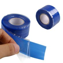 Blue Waterproof Silicone Performance Repair Tape Bonding Rescue Self Fusing Wire Hose Black Transparent Film