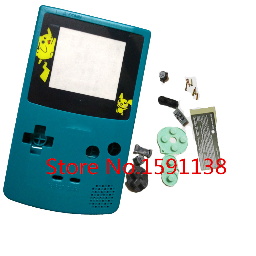 Game boy color online free - Hot With Rubber Pad Cyan Color For Nitendo Gameboy Color Gbc Shell Case Housing Limited Version