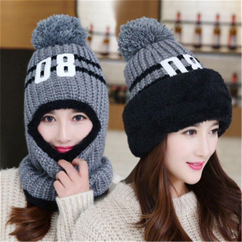 1 unid viento hombres invierno esquí sombrero bufanda CAP para las mujeres Bonnet Orejeras cabeza capsula los sombreros masculinos Beanie Cara máscara balaclava earflap