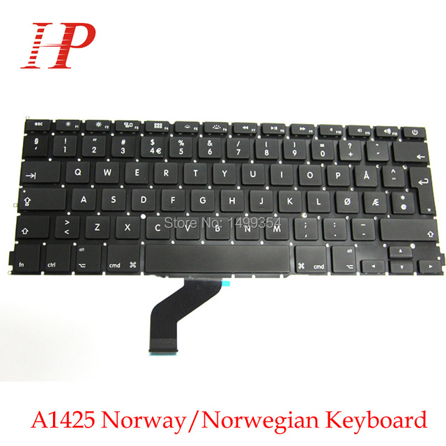 Nuevo original a1425 noruega/noruego teclado reemplazo del teclado para apple macbook pro retina 13 ''norway
