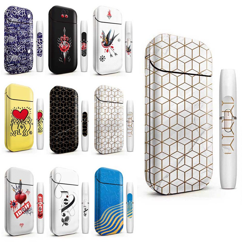 18 Colors 3M High Quality Printing Decorative Stickers Skin Suitable For IQOS 2.4 Plus Skin Sticker Protective Cover
