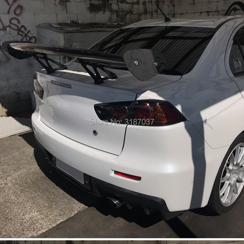 TUPARTS Carbon Fiber Rear roof Spoilers Replacement for Mitsubishi Lancer