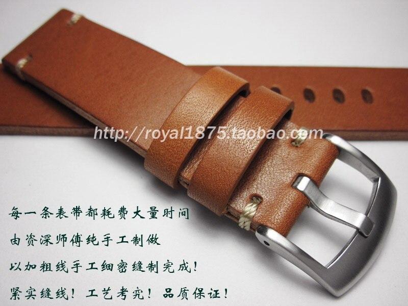 Мужские Ретро ремешки из натуральной кожи 18 19 20 21 22 мм