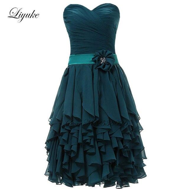 Liyuke Tassel Cocktail Dress Elegant Strapless Pleat Chiffon Zipper Back Feathers Knee-Length Prom Dress For Cocktail Party