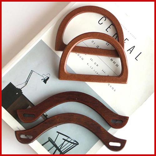 Наби резные арки деревянной ручкой пара (2) для продажи камера ткань сумка аксессуары ручка