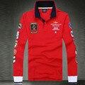 Марка одежды aeronautica militare мужчины Поло camisetas 2016 С Длинным рукавом нагрудные Рубашки Поло мужчины Air Force one Одежда 55