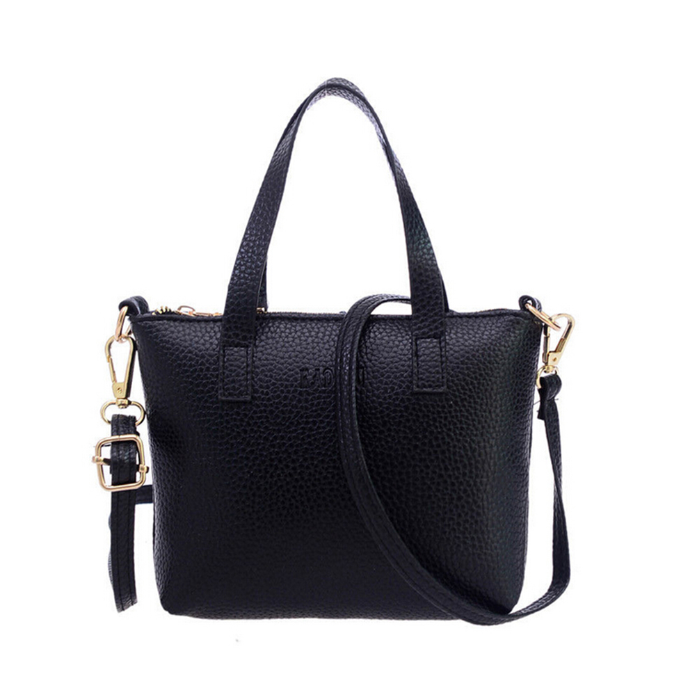 Large Handbags Women Bag Fashion PU Leather Woman Shoulder Bag Casual Tassel Tot