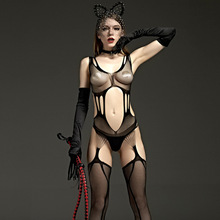 2017 Female Black Body Stocking Sexy Underwear for
