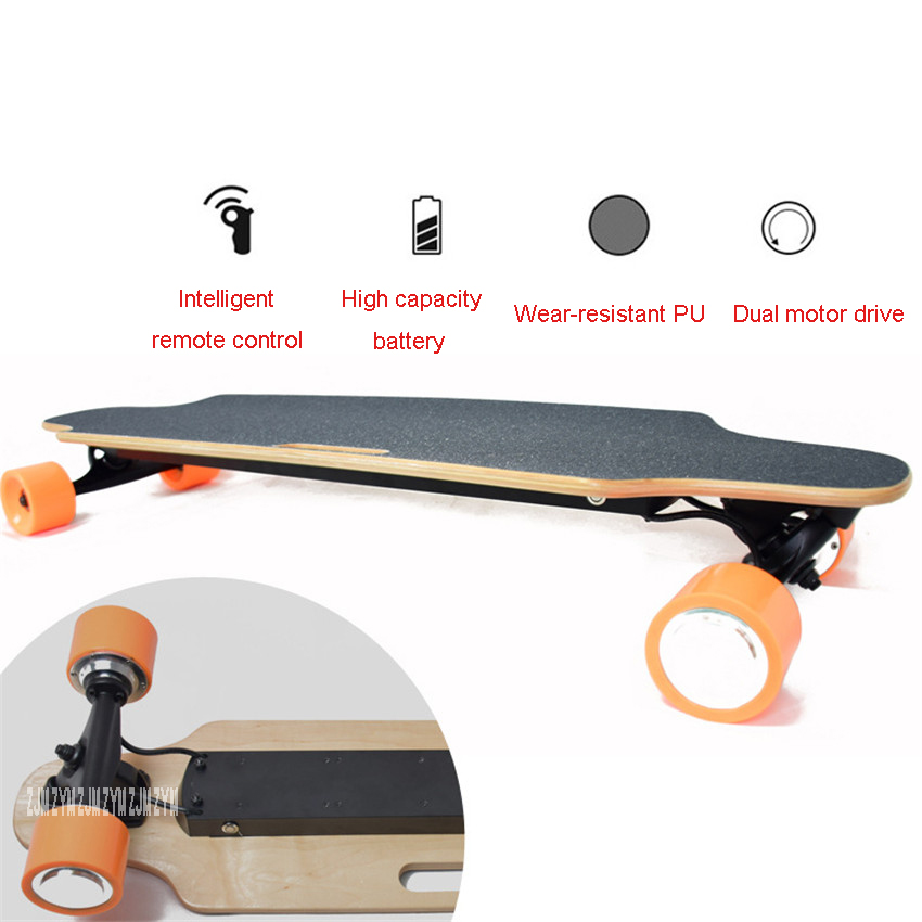 Four 4 Wheel Electric Skateboard With Remote Control Adult Scooter Wood Longboard Skate Board 10km/25km Mileage10km/25km Mileage цена