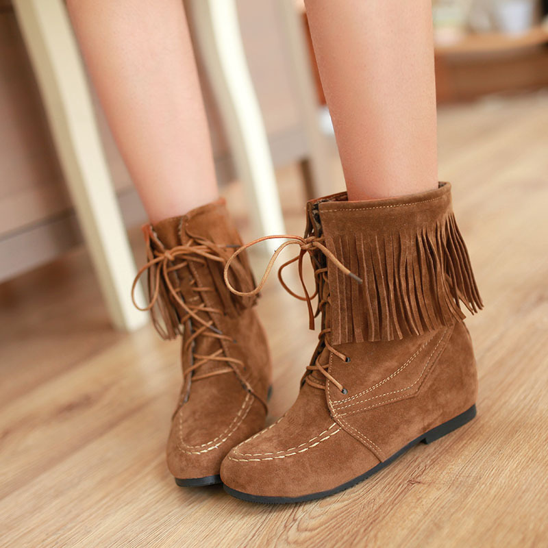 Online Get Cheap Moccasin Fringe Boots for Women -Aliexpress.com ...