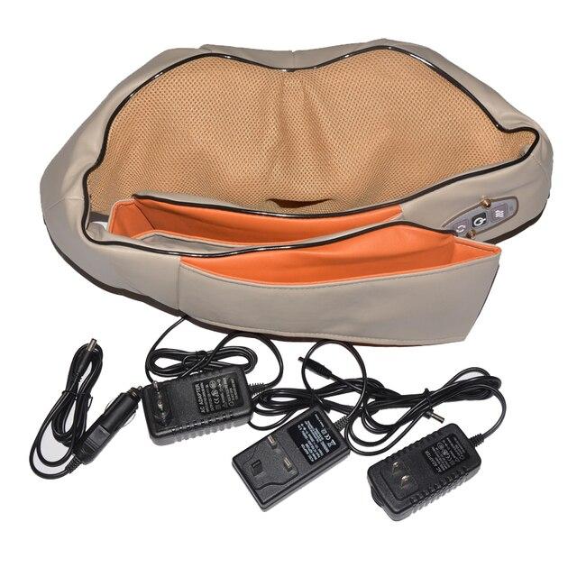 Amkee Home Car Electrical Body Massager Relaxation Massage U Shape Neck Back Shoulder Shiatsu Infrared 3D Kneading Massager 5