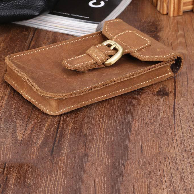 2017 High Quality Handmade Crazy-Horse Vintage Genuine Leather Wallet Case For Samsung S8 Leather Pocket For iPhone5 6 Phone Bag