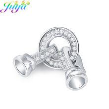 Fecho de conector de cobre para joias, faça você mesmo, acessórios de fecho de pérolas e pedras naturais, colares para fazer