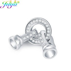 DIY Jewelry Fittings Supplies Copper Connector Fastener Clasp Accessories For Natural Stones Pearls Bracelets Necklaces Making