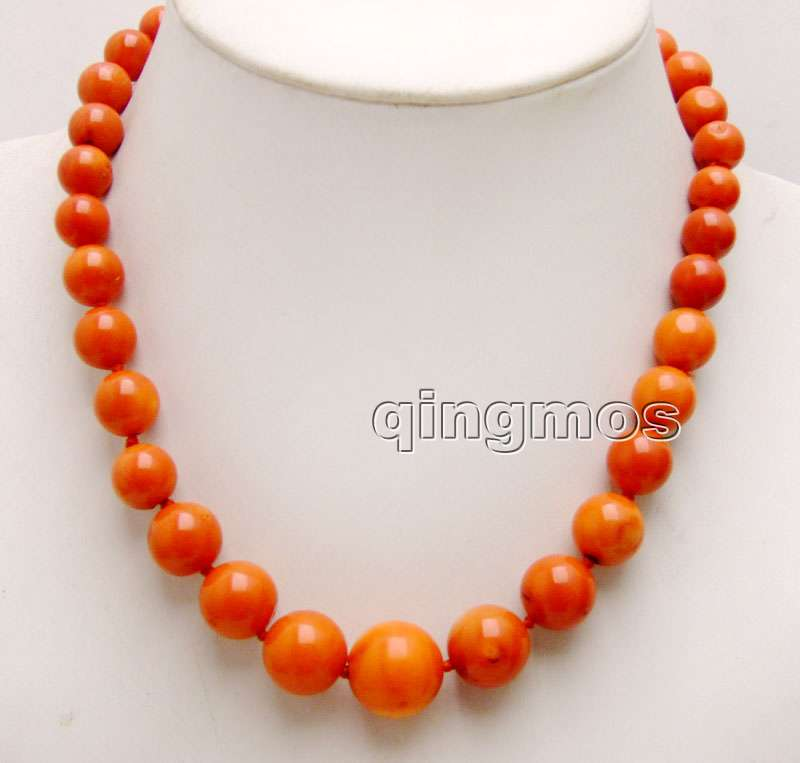 Big 10-16mm Orange Round high quality Natural Coral 18 Necklace-nec6159 Wholesale/retail Free shippingBig 10-16mm Orange Round high quality Natural Coral 18 Necklace-nec6159 Wholesale/retail Free shipping