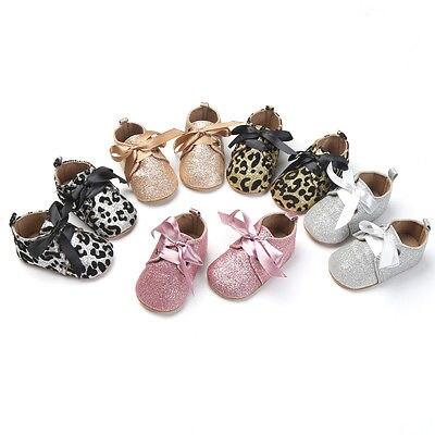 Fashion Sequin Princess Baby Infant Girls Tassel Soft Sole Anti-slip Glitter Shoes Toddler Leopard Bandge Moccasin 0-18 Months