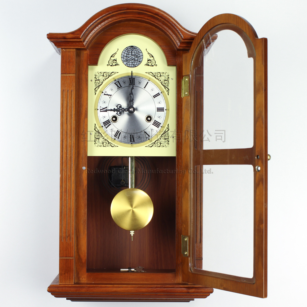 European wood wall clock pendulum tuo living room wall clock european wood wall clock pendulum tuo living room wall clock mechanical clock chime sound rq5258 classical in wall clocks from home garden on amipublicfo Image collections