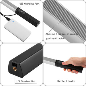 Image 5 - LED ice Light Photography Metal Handheld Video Studio Lights Photography Videography with Remote Control,2Color Temperatures 2g7
