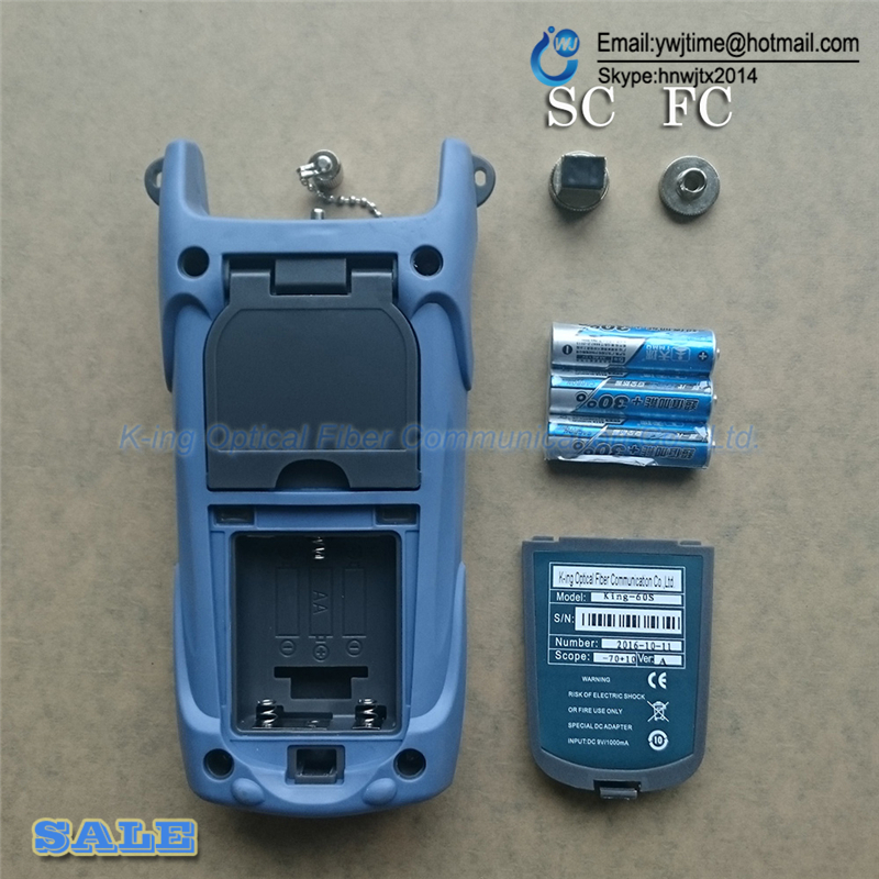 Image 3 - 2 In1 FTTH Fiber Optic Tool Kit Fiber Optical Power Meter  70 + 10dBm and 5km 1mW Visual Fault Locator Fiber optic test pen-in Fiber Optic Equipments from Cellphones & Telecommunications