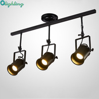 American Retro Country Loft Style LED Lamps Industrial Vintage Iron Ceiling Lights For Bar Cafe Home