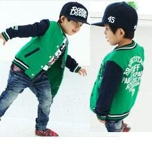Nouveau Arrivé Bébé Garçons Vestes Printemps Enfants Vêtements De Mode Lettre Enfants Survêtement Garçon Baseball Costume Coton Manteaux Vêtements