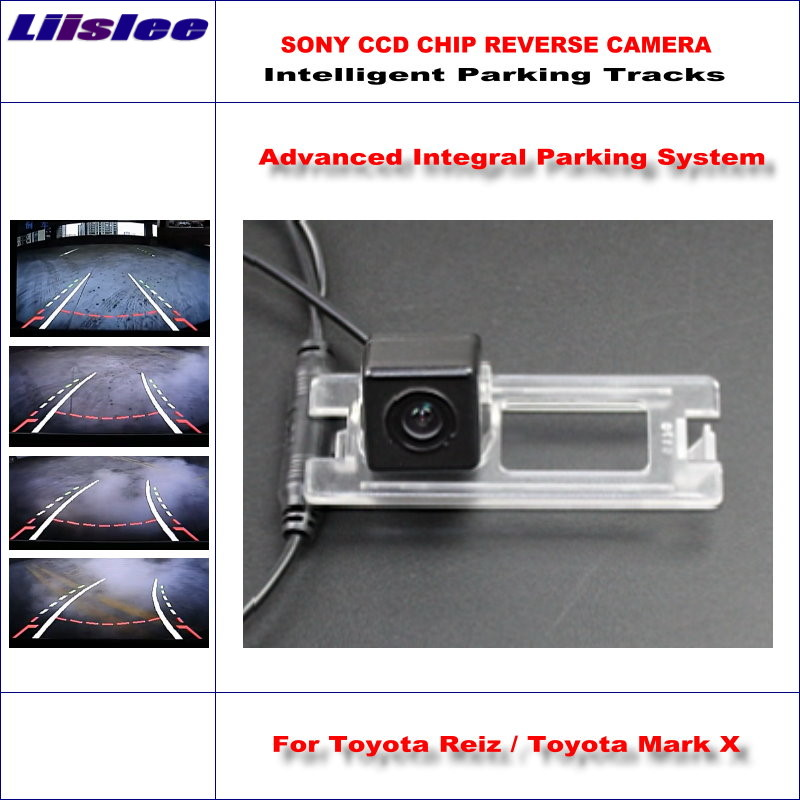 Liislee Car Rear Back Up Camera For Toyota Reiz / Mark X 2013 ~ 2015 Rearview Parking Dynamic Guidance Tragectory