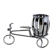Home Decoration Accessories Wrought Iron Bicycle Pen Holder