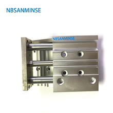 NBSANMINSE MGPL Bore 16X300  ISO Compact Guide Cylinder Stable Lubrication Function Pneumatic Air