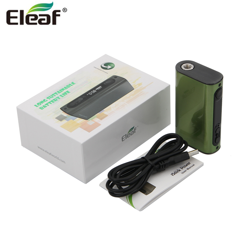 original Eleaf iPower iStick Power TC 80W Box Mod 5000mah Battery Vape Vaporizer Support RTA RBA