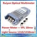 Ruiyan RY-OM3205C Fibra Óptica Multímetro (Medidor de Potencia Óptica 1310/1550nm Fuente de Luz + 10 mw Visual Fault Locator VFL)