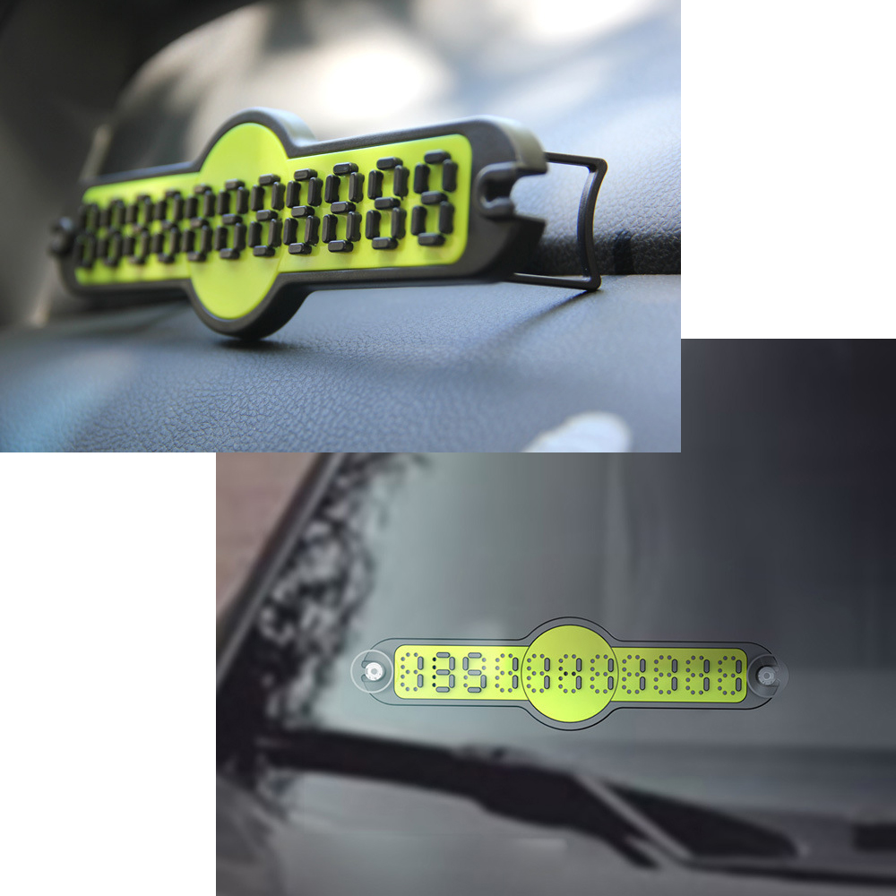 цены DIY Car Sticker Telephone Number Plates with Suckers and Holder Auto Temporary Parking Card License Plate 4 Colors Car Styling