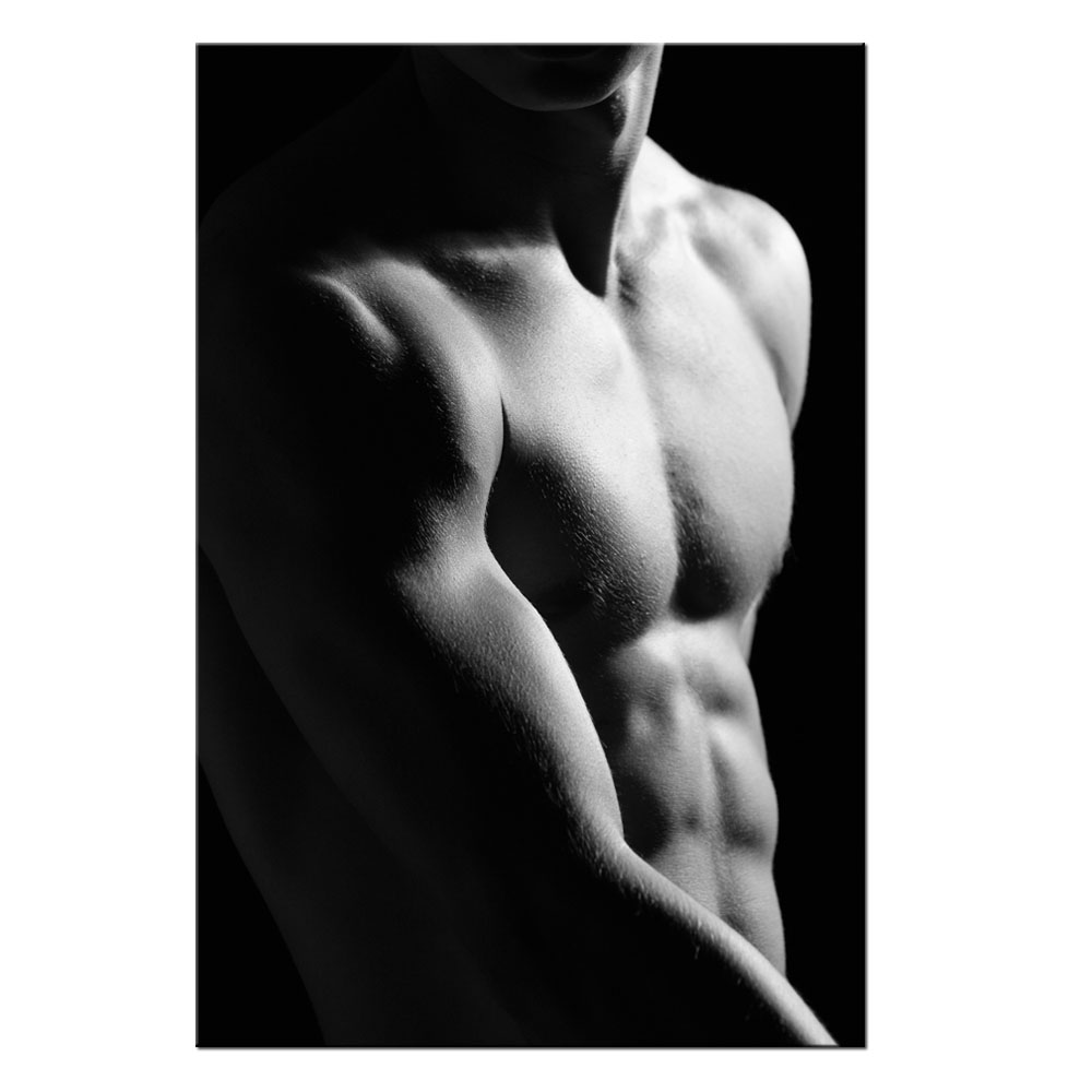 Contemporary Wall Decor Muscular Male Poster Canvas Home Decor For Bedroom Fitness Coach Modern Prints Giclee Artwork