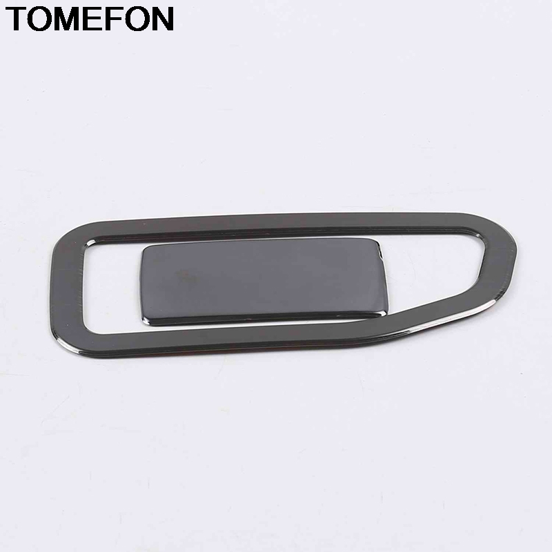TOMEFON For <font><b>Peugeot</b></font> <font><b>3008</b></font> <font><b>GT</b></font> <font><b>2017</b></font> <font><b>2018</b></font> LHD Front Dashboard Pessager Tool Glove Box Handle Cover Interior <font><b>Accessories</b></font> 2pcs SS image