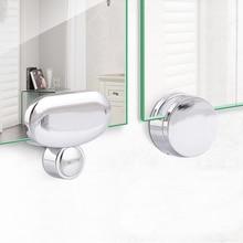 4 шт. настенное крепление Безрамное зеркало зажим стеклянные зажимы для ванной комнаты стеклянный зажим зеркала поддерживающая Толщина: 3-5 мм