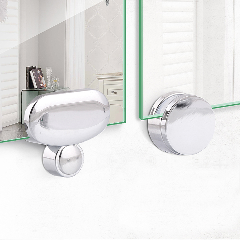 4PCS Wall Mount Frameless Mirror Clip Glass Clamps Bathroom Glass Clip Mirrors Supporting Thickness:3-5mm
